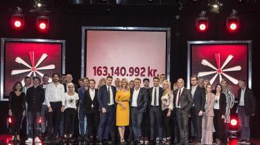 Pressefoto fra Knæk Cancer-kampagnen sidste år, hvor der blev samlet adskillige millioner ind. Men disse programmer er med til at tegne et alt for poleret billede af en sygdom, der dræber, mener dagens kronikør.