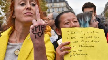 Demonstration mod seksuelle overgreb i Paris 29. oktober.