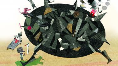 Den vidunderlige russiske avantgardist Daniil Kharms kom i fængsel for at være absurd. Det risikerer Martin Glaz Serup ikke med sin lettere absurde historie om ham i dag, men på Kharms tid ville han sikkert have fået 40 dage for at bygge en maskine, der ikke kan noget i det så produktionsbegejstrede Rusland lige efter revolutionen. Illustrator Mette Marcussen ville aldrig se dagslyset igen