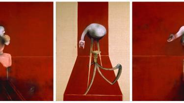 Francis Bacon-hovedværker som 'Triptych – August 1972' og 'Three Figures and Portrait' fra 1975 er rystende i al deres emotionelle vælde og ejendommelig skildringer af mareridtsagtige psykiske trængsler.