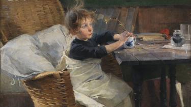 Helene Schjerfbeck vandt i 1889 bronzemedalje for sit bidrag på Verdensudstillingen, maleriet Rekonvalescenten.