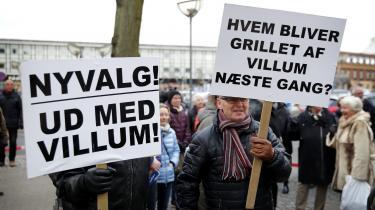 Demonstration foran rådhuset i Slagelse.