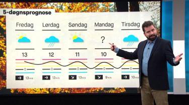 Komiker Anders Grau giver os vejrudsigten med en kombination af depressivt sortsyn og den særlige joviale vejrværts-attitude, hvor der altid er kaffe på kanden, tydelig staccatodiktion og kunstige smil