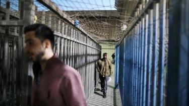 Udviklingsforsker Lars Engberg-Pedersen vurderer, at andre hensyn end udviklingsfaglige har domineret regeringens udviklingspolitik i Israel og Palæstina. Her palæstinensere ved et checkpoint i Ramallah.
