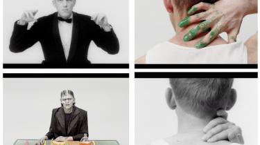Den amerikanske popkunstner Alex Da Corte har genskabt Jørgen Leths 'Det perfekte menneske' skud for skud. I genindspilningen, 'Det perfekte monster', er Frankensteins monster i centrum, og det flyder med brød opløst i appelsinvand.