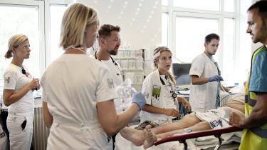 Styrelsen for Patientsikkerhed har fået mere magt samtidig med, at ansatte i sundhedssektoren har fået mindre. Det går ud over retsikkerheden, advarer Kent Kristensen, lektor i sundhedsret på Syddansk Universitet. Billedet her er fra akutmodtagelsen på Bispebjerg Hospital.