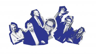 Når verdens ledere om ti år mødes i Davos, er det navne som Corydon, Orban, Zuckerberg, Chelsea Clinton og Meryl Streep, der står løjerne, viser Information algoritme.