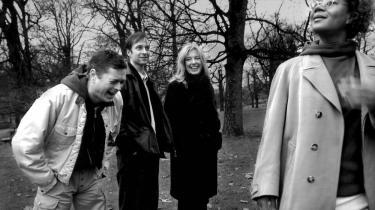 Lex & Klatten, fra venstre Peter Frødin, Martin Brygmann, Paprika Steen og Hella Joof