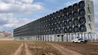 Sådan kan Carbon Engineerings luftudvindingsprojekt komme til at se ud, når det er afsluttet.