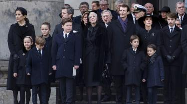 Uden prins Henrik kommer de tilkomne udenlandske medlemmer af kongefamilien til at fremstå farveløse