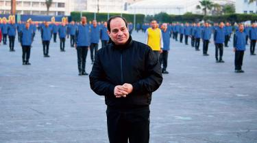 Egyptens præsident Abdel Fattah al-Sisi besøgte for få dage siden militærakademiet i Cairo.