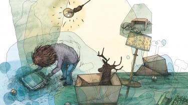 'Huset på havets bund' er en vanvittigt god billedbog skrevet og tegnet på bevidsthedsudvidende metagas, der måske kan gøre det uvirkelige virkeligt for os. Tegner Lars Vegas Nielsen er tilbage og har fyldt bogen med spandevis af perspektiver fra sin tilsyneladende bundløse sø af talent