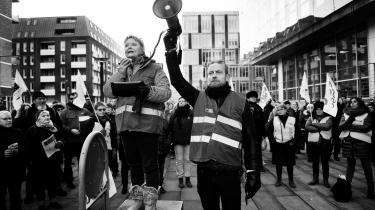 Demonstration om overenskomstforhandlinger i København den 22. februar. Siden er situationen spidset til, og nu har de offentligt ansatte givet konfliktvarsel.