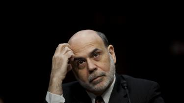 Forhenværende amerikanske centralbankchef Ben Bernanke er en af de økonomer, der udtaler bekymring om, hvad der sker, når renten nu begynder at blive hævet fra et historisk lavt niveau.