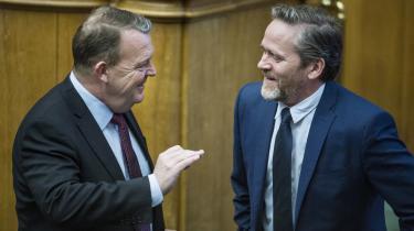 Venstre og Liberal Alliance har ikke særligt krav på at kalde sig liberale, mener dagens kronikør. Her er det statsminister Lars Løkke Rasmussen (V) og udenrigsminister Anders Samuelsen (LA).