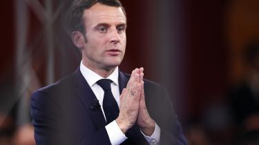 Efter Præsident Emmanuel Macron havde holdt sin tale i Europa-Parlamentet, deltog han i en tre timer lang debat med parlamentarikerne.