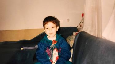 Alen Causevic som fireårig i 1994 på asylcentret i Silkeborg.