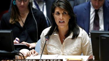 USA'sFN-ambassadør Nikki Haley