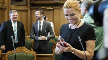 Var det mon udlændinge- og integrationsminister Inger Støjberg (V), der sagde dette om kriminelle udlændinge:'Vores udfordring er, at de afsoner i danske fængsler. Vi kunne godt tænke os, at mange af dem afsoner i deres egne fængsler'?