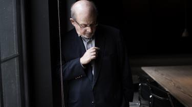 Salman Rushdie under et møde med Information i 2014. Du kan læse interviewet her.