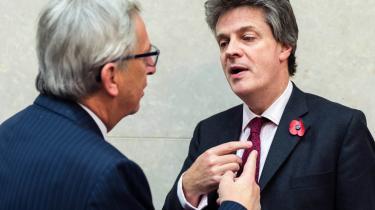 Det var med bravade og trompetfanfarer, at kapitalmarkedsunionen i november 2014 blev lanceret af den dengang nyligt udnævnte finanskommissær lord Jonathan Hill, der her ses sammen med Jean-Claude Juncker.