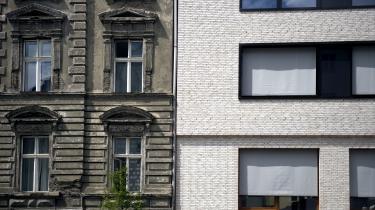 Gamle og nye bygningsfacader i det gentrificeredePrenzlauer Berg, der i dag præges af velbjærget monokultur.