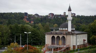 Moské i Fittja nær Stockholm