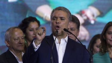 Ivan Duque blev i søndags valgt som Colombias nye præsident