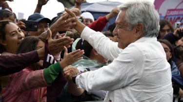Det bliver formentlig venstrefløjens evige præsidentkandidat Obrador, der vinder søndagens præsidentvalg i Mexico.