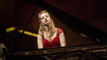 Pianisten Lise de la Salle under en tidligere koncert i Danmark. den franske musiker var allerede som barn et enestående talent, og også denne gang var hendes koncert virtuos oplevelse.
