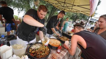 Er det sundt at leve vegansk? Næppe, lyder svaret fra dagens kronikør. Her foto fra en vegansk festival.