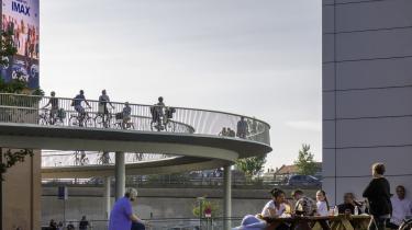 Cykelslangen, der forbinder Dybbølsbro ved Fisketorvet med Havneholmen lige ved Bryggebroen i København