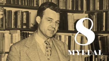 Gunnar Myrdal er en af det tyvende århundredes vigtigste samfundsforskere overhovedet. Han var med til skabe den svenske velfærdsstat og ophæve adskillelsen mellem sorte og hvide i USA, og han prægede forestillinger om fred og lighed i verden