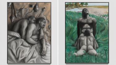 Billedkunstner Rasmus Myrups hotte, tegnede abeelskere i udstillingen 'Homo' Homo fylder både fortid og samtid med inderlighed og lige rettigheder for alle i kærlighedens og begærets navn.