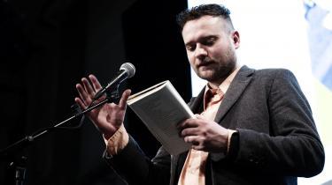 Bjørn Rasmussen læser op ved arrangement hos Politiken.
