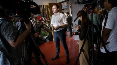 Uddannelses- og forskningsminister Tommy Ahlers (V) præsenterede udspillet 'Fleksible universitetsuddannelser til fremtiden' på et pressemøde på Copenhagen Business School.