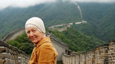 Gerda Tams på Den Kinesiske Mur i 2009.