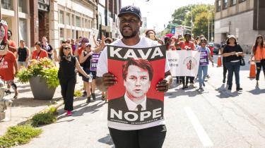 Protesterne mod Brett Kavanaugh har været mange.