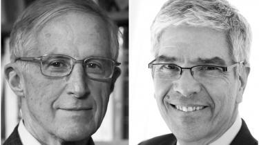 William Nordhaus (tv) og Paul Romerdeler nobelprisen i økonomi 2018.