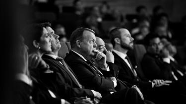 Statsminister Lars Løkke Rasmussen under anden dagenvedP4G-topmødet, i DR Koncerthuset i København lørdag den 20. oktober 2018. P4G står for Partnering for Green Growth and the Global Goals 2030 og er et globalt initiativ, som Danmark sammen med Sydkorea, Etiopien, Vietnam, Chile, Mexico og Kenya står bag.