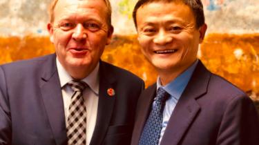 Statsminister Lars Løkke Rasmussen med Alibabas Jack Ma.