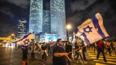 Israelere indtog gaderne i TelAviv i protest mod våbenhvilen.