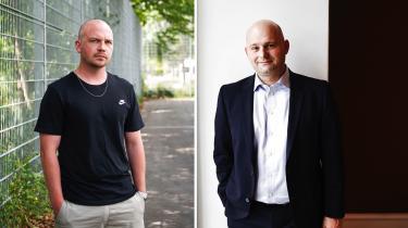 Morten og Søren, der begge lyder efternavnet Pape,blev i denne uge hovedpersoner i en ufrivillig forvekslingskomedie fra virkelighedens verden. Fotos: Tycho Gregers og Pelle Rink / ritzau scanpix.