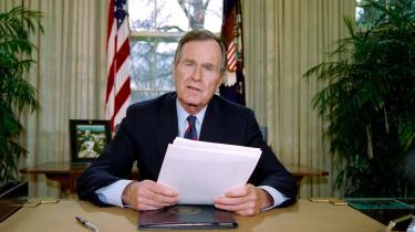 George Bush i tale til nationen den 25. december 1991. I talen bekendtgjorde den nu afdøde præsident Mikhail Gorbatjovs afgang som Sovjetunionens leder og dermed unionensopløsning og afslutningen på Den Kolde Krig.