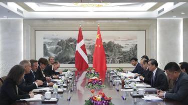 Udenrigsminister Anders Samuelsen på besøg i Kina.