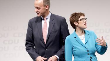 Valget fredag står mellem enmand og en kvinde, mellem Friedrich Merz og Annegret Kramp-Karrenbauer.