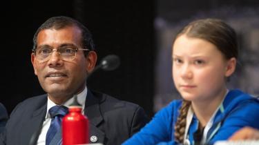 På de svage og de sårbares pressemøde deltog den 15-årige svenske skoleelev Greta Thunberg, flankeret af den tidligere præsident og nuværende forhandlingsleder for den sårbare østat Maldiverne, Mohamed Nasheed. »Vi er ikke parat til at dø. Maldiverne har ikke i sinde at dø,« sagde Mohamed Nasheed.
