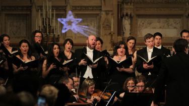 Händels 'Messias' bliver opført i Trinity Church i New York.