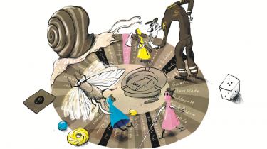En kontrolsyg sprogrevser, en grammatiknørdet flueknepper og en dyslektisk sprogvirtuos  fra kulturredaktionen har spillet alle sprogrøgteres våde brætspilsdrøm, krimiforfatter Susanne Stauns Sprogspillet. Det bliver til et stædigt, solidarisk oprør mod snobbet sprogpoliti, men også en nysgerrig og andægtig stund rundt om det varme lejrbål, der hedder nyt og gammelt dansk