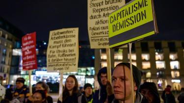 Omfanget af de De Gule Veste- demonstrationer som bevægelsen Aufstehen har arrangeret i Tyskland har ikke været imponerende